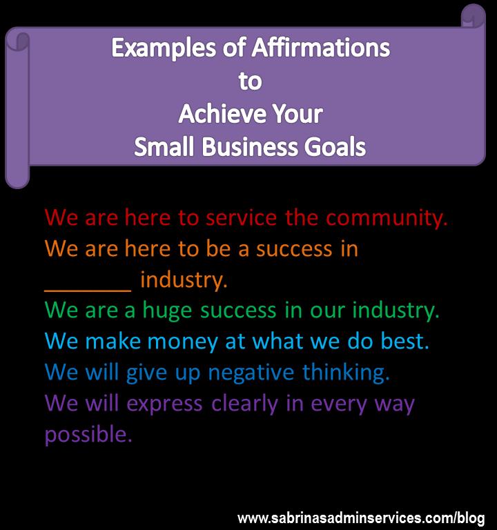 affirmation examples goals