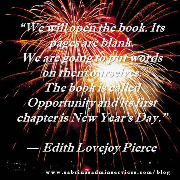 new years day quote by Edith Lovejoy Pierce