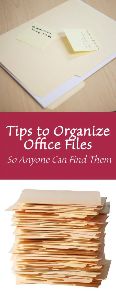 Tips to Organize Office Files – So Anyone Can Find Them