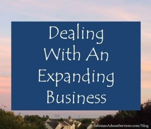 Dealing With An Expanding Business