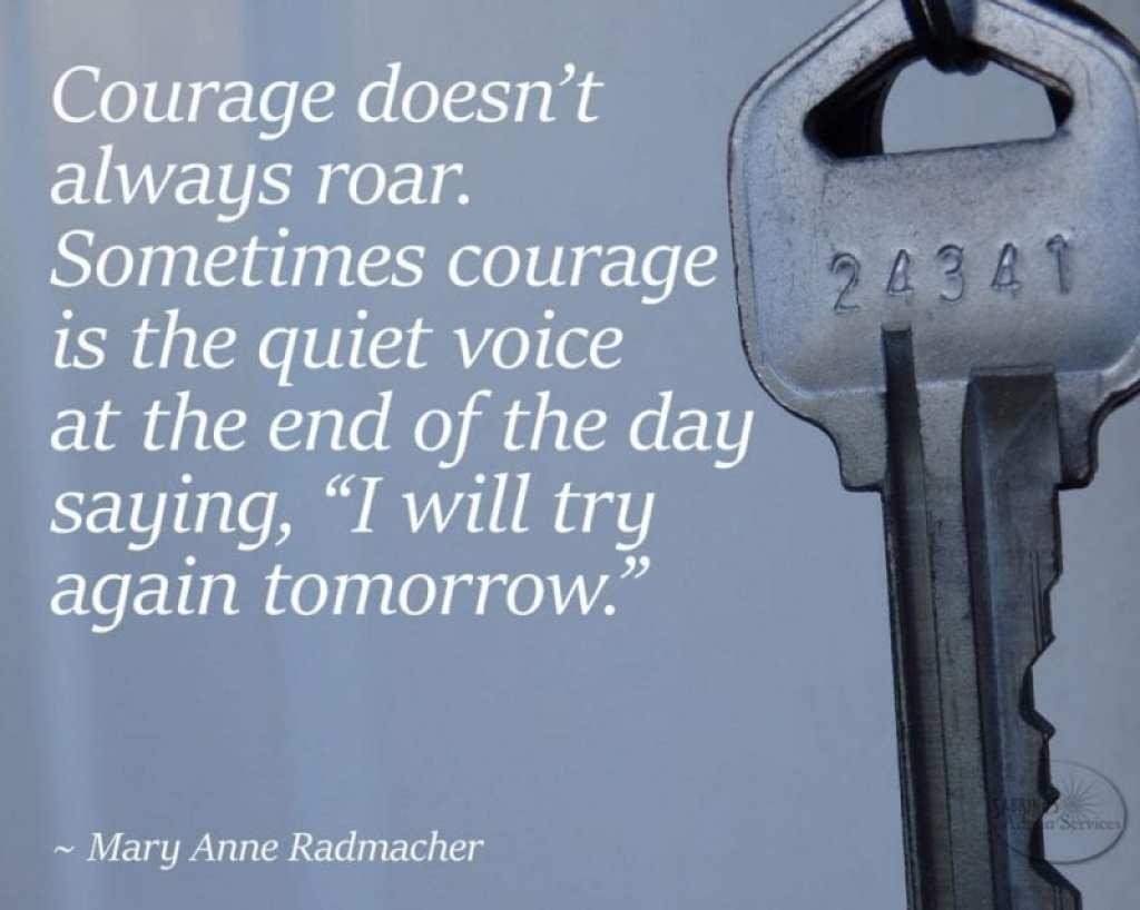 Mary Anne Radmacher courage quote