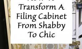 How to transform a filing cabinet from shabby to chic