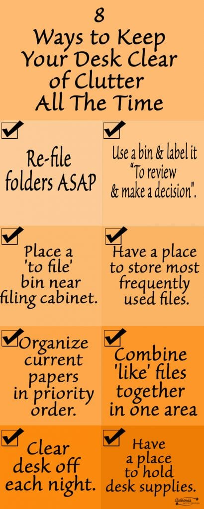 8 Ways to Keep Your Desk Clear of Clutter All The Time