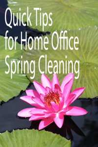 Quick Tips for Home Office Spring Cleaning