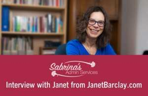 Fabulous Small Business Owner Interview with Janet from Janet Barclay