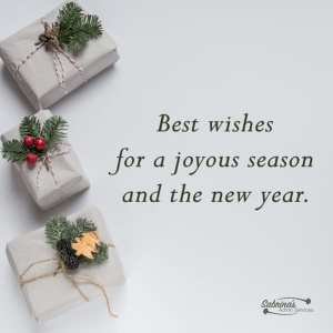 Best wishes for a joyous season and new year. - 11 Free Seasons Greetings Images to Share With Clients