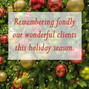 Remembering fondly our wonderful clients this holiday season. - 11 Free Seasons Greetings Images to Share With Clients