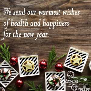 We send our warmest wishes of health and happiness for the new year. - 11 Free Seasons Greetings Images to Share With Clients