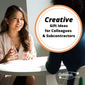 Creative Gift Ideas for Colleagues and Subcontractors
