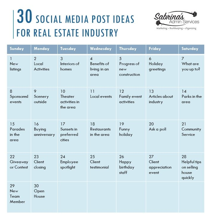 30 Real Estate Social Media Posts for Engagements
