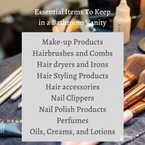 Essential Items To Keep in a Bathroom Vanity
