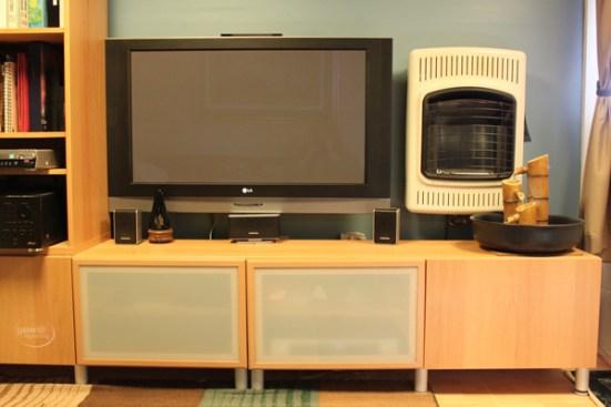 Customized Ikea Entertainment center