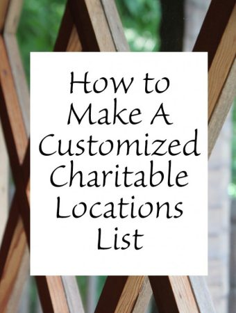 How to make a customized charitable locations list