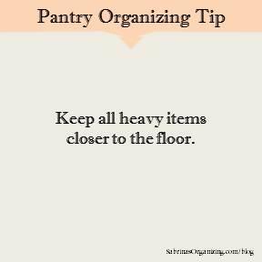 Keep all heavy items closer to the floor.