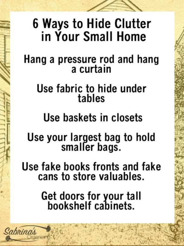 6 Ways to Hide Clutter in Your Small Home