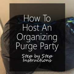 Organizing A Living Room Wooden Sofa Set Designs For Small How To Host An Purge Party - Step By ...
