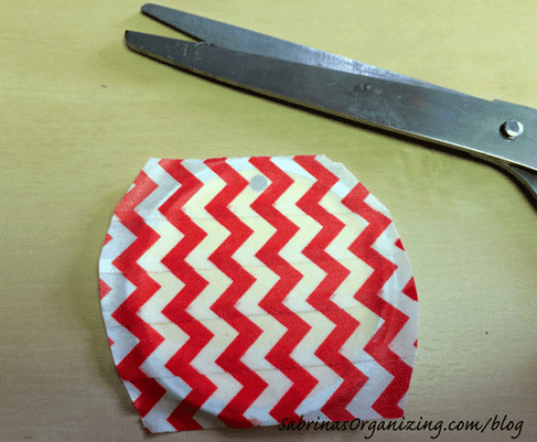 Cut around the Washi tape to remove extra tape