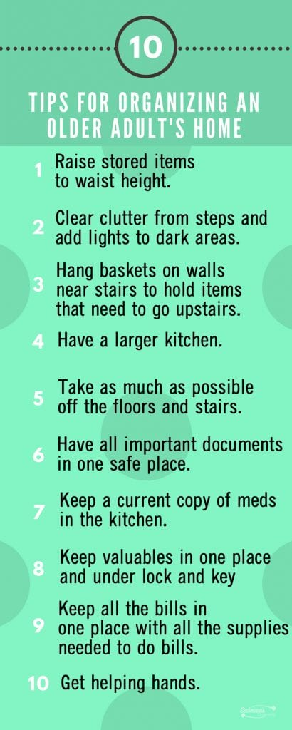 10 Easy Tips for Organizing An Older Adults Home