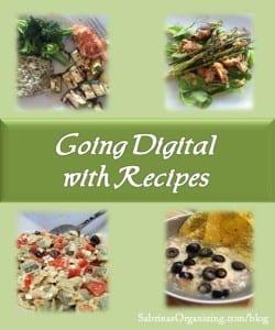 Going Digital with Recipes | Sabrina's Organizing #recipe #digital