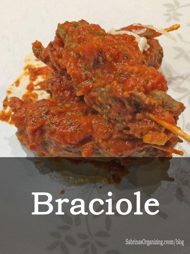 Braciole Recipe Stuffed Beef Rolls Sabrinas Organizing