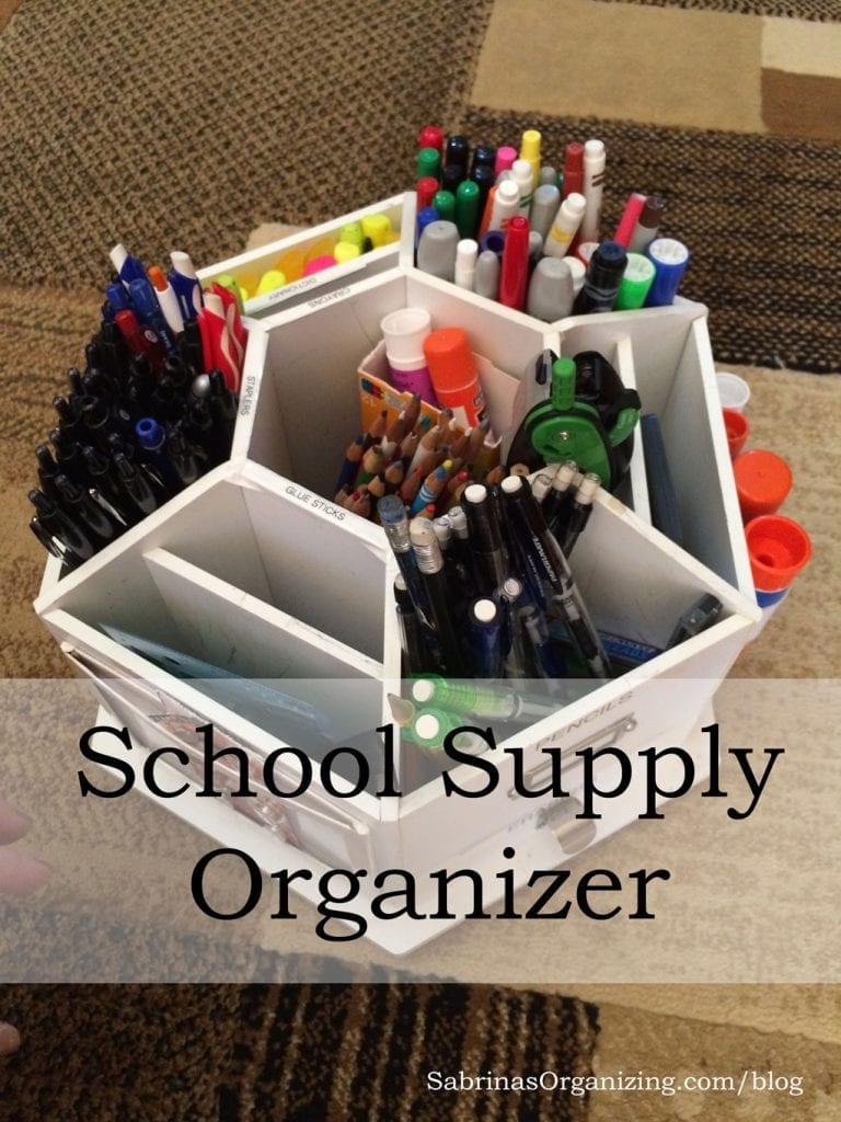 School supplies organizer for home