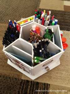 top of the supplies organizer