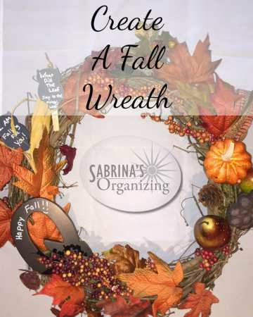 Create a fall wreath