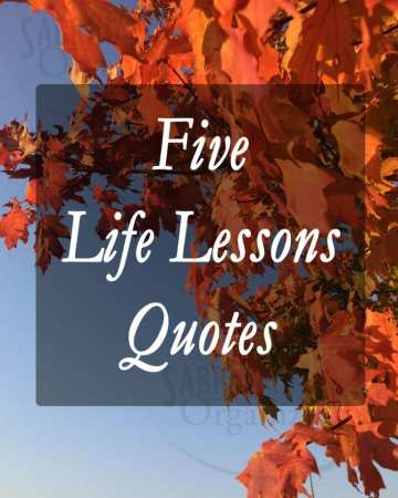 Five Life Lessons Quotes