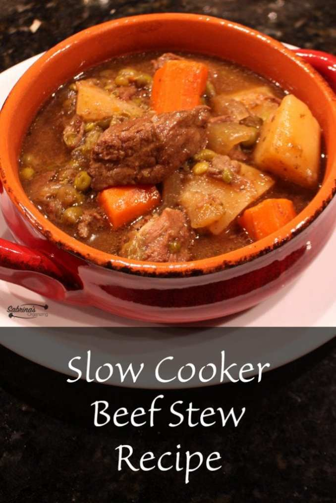 Slow Cooker Easy Beef Stew Recipe   Sabrina's Organizing