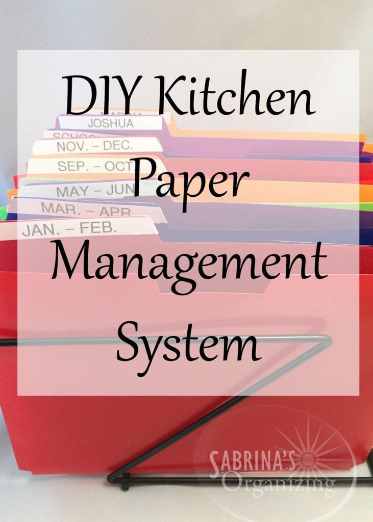 Kitchen Organizing