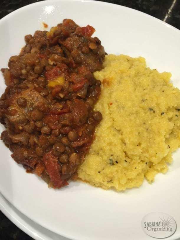 Crock pot sausage and lentil | Sabrina's Organizing