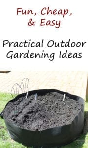 Fun Cheap and Easy Practical Outdoor Gardening Ideas
