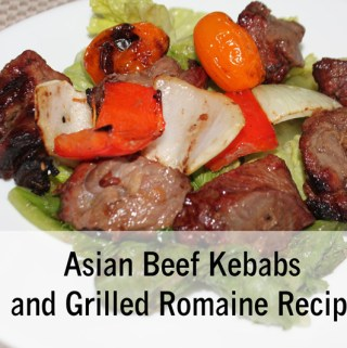 Asian Beef Kebabs and Grilled Romaine Recipe