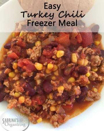 Easy Turkey Chili Freezer Meal