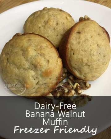 DF Banana Walnut Muffin Recipe