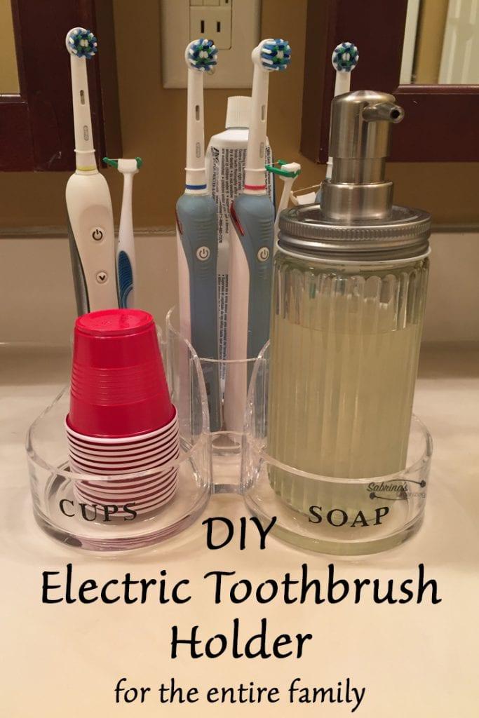 DIY Electric Toothbrush Holder  Sabrinas Organizing