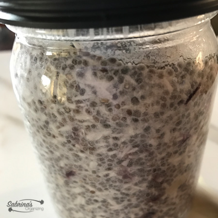 Dairy Free Coconut Chia Breakfast Pudding in a mason jar