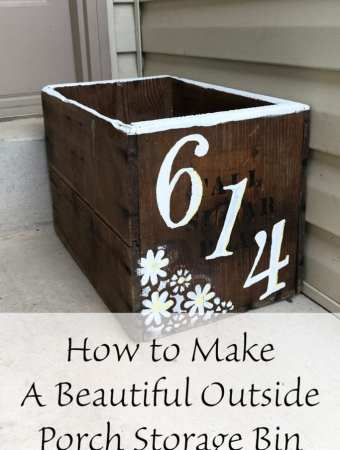 How to Make A Beautiful Outside Porch Storage Bin