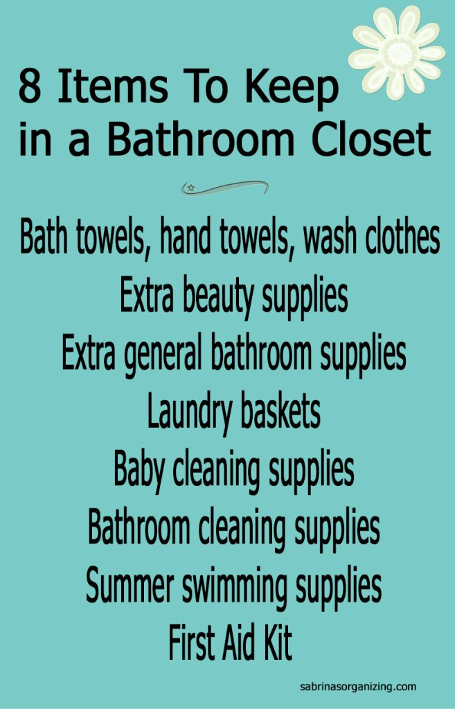8 items to keep in a bathroom closet
