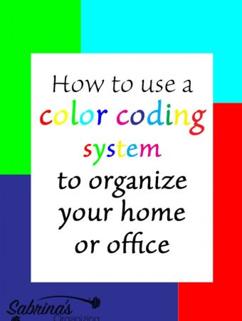 How to use a color coding system to organize in your home or office