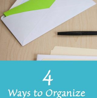4 ways to organize incoming paper mail