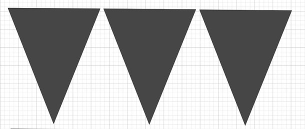 Larger triangles for banner back