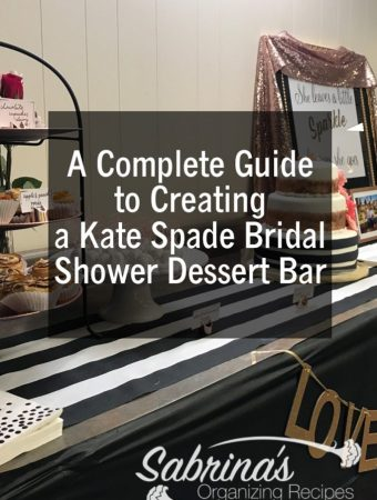 A Complete Guide to Creating a Kate Spade Bridal Shower Dessert Bar