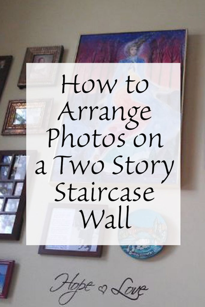 How to Arrange Photos on a Two Story Staircase Wall