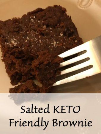 Keto friendly salted brownie
