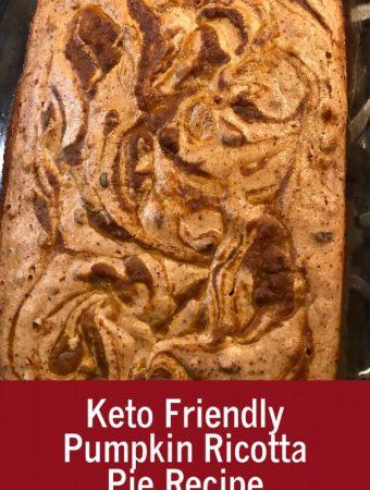 Keto Friendly Pumpkin Ricotta Pie Recipe
