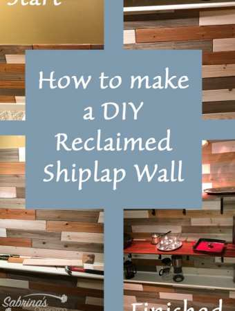 How To Make A DIY Reclaimed Shiplap Wall