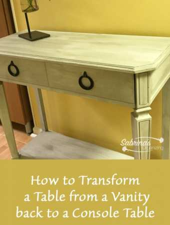 How to Transform a Table from a Vanity back to a Console Table