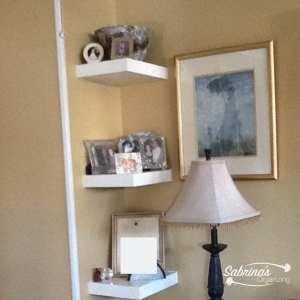 corner shelves for displaying memorabilia