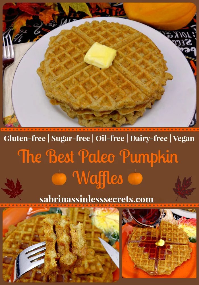 The Best Paleo Pumpkin Waffle collage